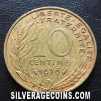 1976 10 French Centimes