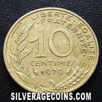 1979 10 French Centimes