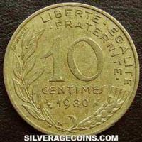 1980 10 French Centimes