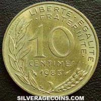 1983 10 French Centimes