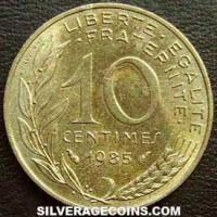 1985 10 French Centimes