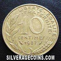 1987 10 French Centimes