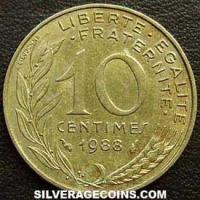 1988 10 French Centimes