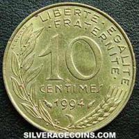 1994 fish 10 French Centimes