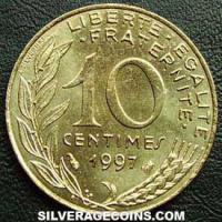 1997 10 French Centimes