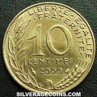 2000 10 French Centimes