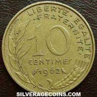 1962 10 French Centimes