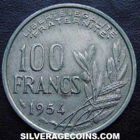1954 100 French Francs