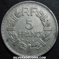 1949 (a) 5 French Francs