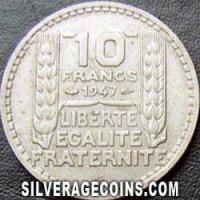 1947 B 10 French Francs