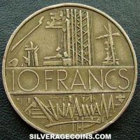 1976 10 French New Francs