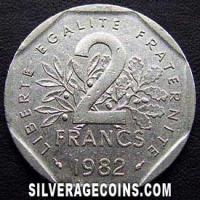 1982 2 French New Francs