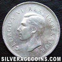 1942 George VI South African Silver Threepence