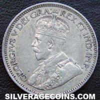 "1919 George V Canadian Silver ""Dime"" 10 cents"