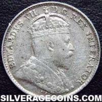 1906 Edward VII Canadian Silver 5 cents