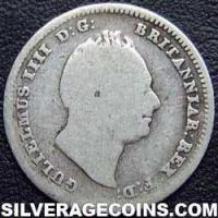 1835 William IV British Silver Threepence