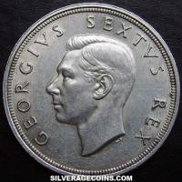1948 George VI South African Silver 5 Shillings