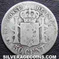 1880 (80) MS-M Alfonso XII Spanish Silver 50 Cents