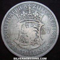 1927 George V South African Silver Two and a Half  Shillings