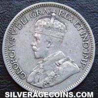 """1932 George V Canadian Silver """"Dime"""" 10 cents"""