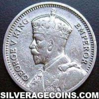 1933 George V New Zealand Silver Threepence