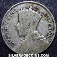 1933 George V New Zealand Silver Shilling