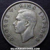 1937 George VI New Zealand Silver Florin