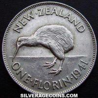 1941 George VI New Zealand Silver Florin