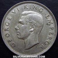 1943 George VI New Zealand Silver Half Crown