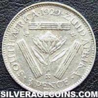 1929 George V South African Silver Threepence