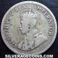 1934 George V South African Silver Sixpence