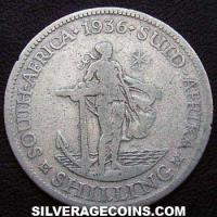 1936 George V South African Silver Shilling