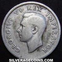 1938 George VI South African Silver Shilling