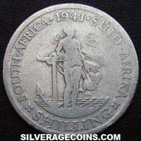 1941 George VI South African Silver Shilling