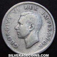 1942 George VI South African Silver Shilling