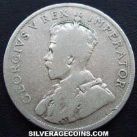 1923 George V South African Silver Florin
