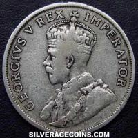 1934 George V South African Silver 2 Shillings