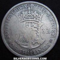 1932 George V South African Silver Two and a Half Shillings
