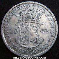 1942 George VI South African Silver Two and a Half Shillings