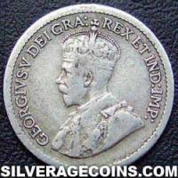 1917 George V Canadian Silver 5 cents