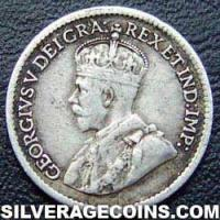 1918 George V Canadian Silver 5 cents