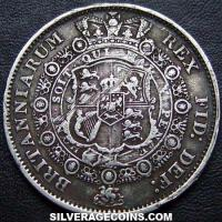 "1816 George III British Silver ""Bull Head"" Half Crown"