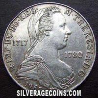 1967 Austrian Silver 25 Schillings (Maria Theresa)