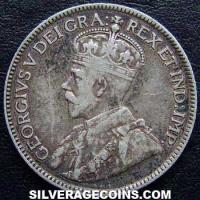 1918 George V Canadian Silver 25 Cents