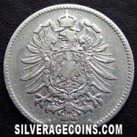 1874 G Wilhelm I German Silver Mark