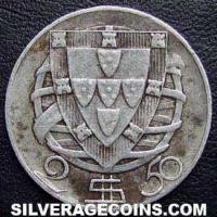 1945 Portuguese Silver Two and a Half Escudos
