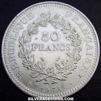 1974 French Silver 50 New Francs (Hercules)