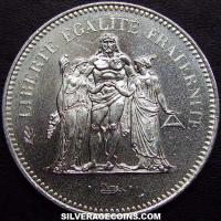1975 French Silver 50 New Francs (Hercules)