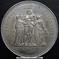 1977 50 French Silver New Francs (Hercules)