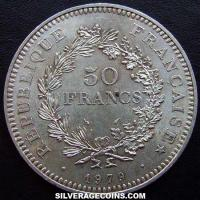 1979 French Silver 50 New Francs (Hercules)